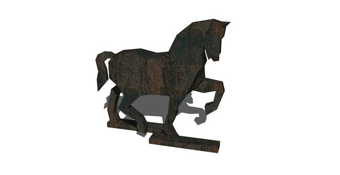 57组小品动物雕塑素材su模型[原创]