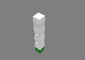 某景观柱素材设计SU(草图大师)模型