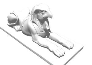 某园林景观抽象动物雕塑SU(草图大师)模型