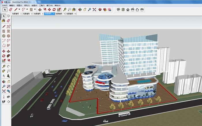 四个德阳电脑建筑设计模型SU平面(附CAD酒店2018方案平面设计v电脑苹果图片