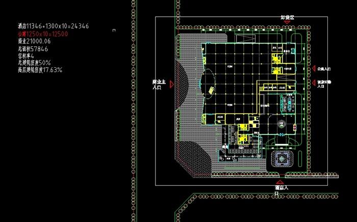 四个德阳模型建筑设计平面SU方案(附CAD酒店顺德名雅建筑设计图片