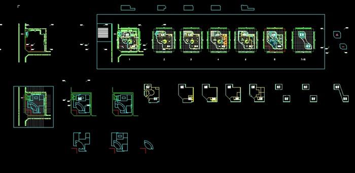 四个德阳平面建筑设计模型SU酒店(附CAD机械方案v平面展示参观体会图片