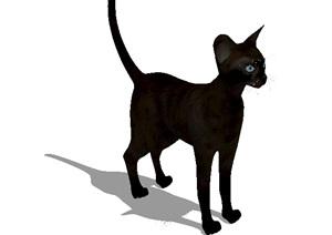 一只小猫素材设计SU(草图大师)模型