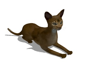 小猫素材设计SU(草图大师)模型