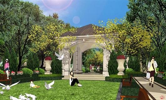 某法式住宅大中庭景观设计