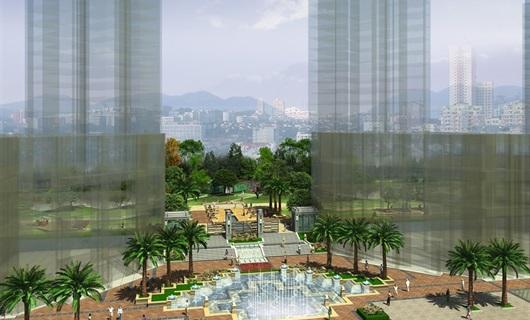 重庆合川欧博星座住宅景观设计