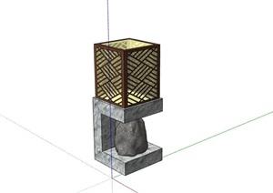 草坪灯素材设计SU(草图大师)模型