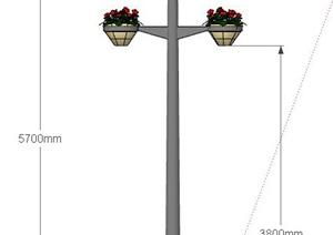 路灯详细独特设计SU(草图大师)模型