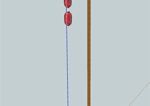 灯笼路灯设计SU(草图大师)模型