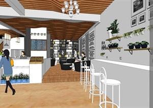 咖啡厅室内设计SU(草图大师)模型