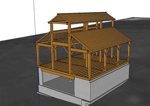 精品建筑框架素材SU(草图大师)模型