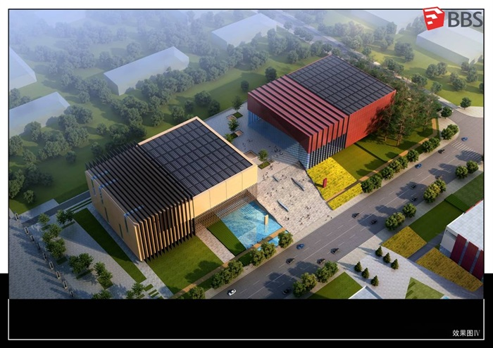 一个艺术中心建筑设计jpg投标方案及su模型