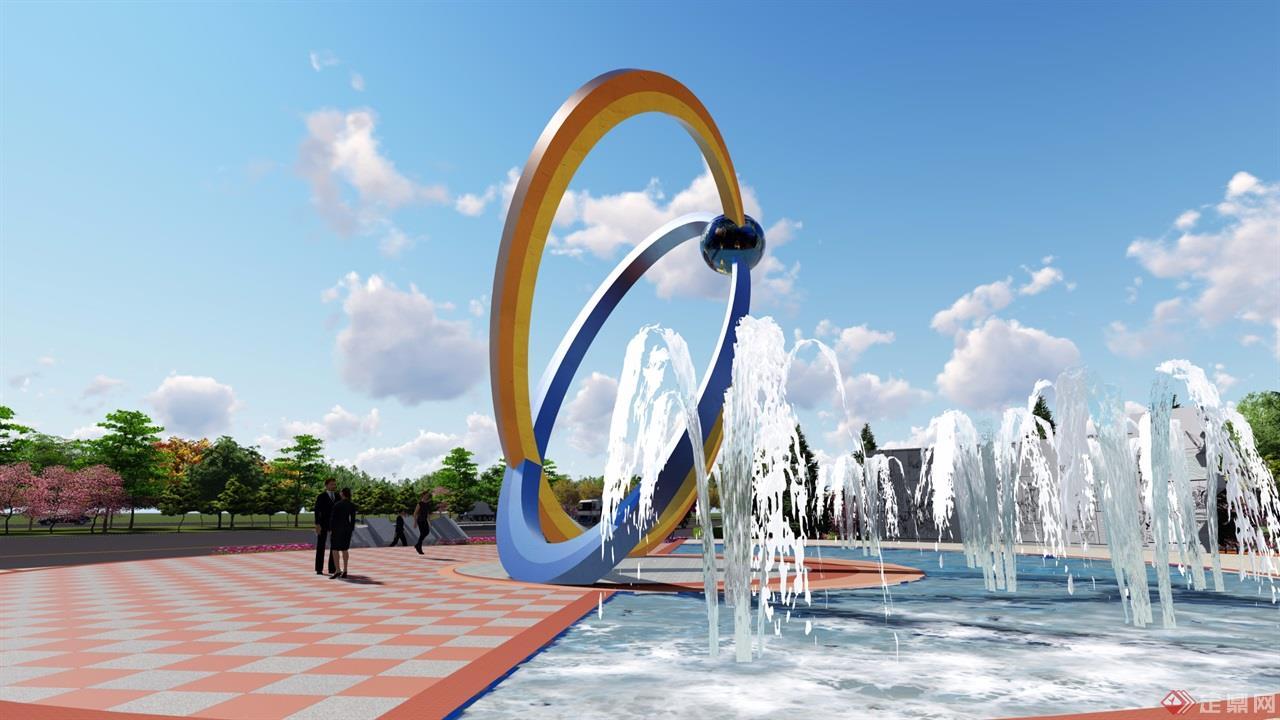 钢铁厂景观设计展台粽子的布置图片