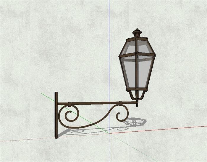 欧式详细的壁灯素材su模型[原创]