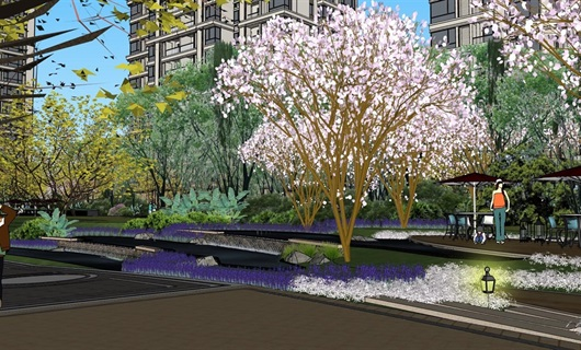 大中庭住宅景观设计