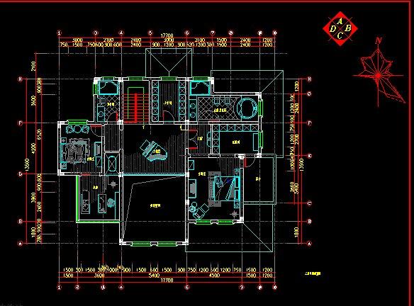 欧式(别墅)室内装修设计施工图(2)