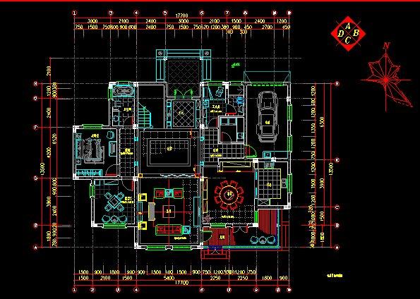 欧式(别墅)室内装修设计施工图(1)