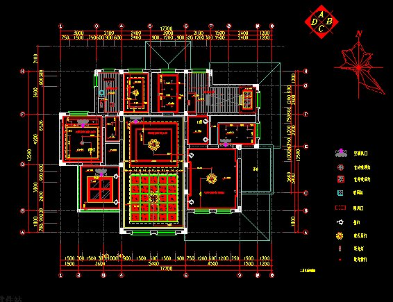 歐式(別墅)室內裝修設計施工圖(3)