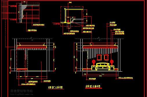 欧式(别墅)室内装修设计施工图(5)