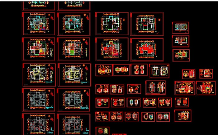 欧式(别墅)室内装修设计施工图(6)