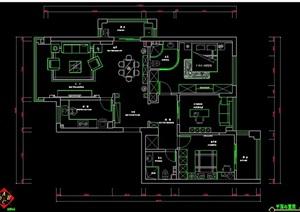 三居室家装设计方案图纸