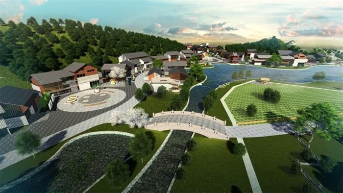 新中式乡村民宿旅游区规划设计方案su模型[原创]