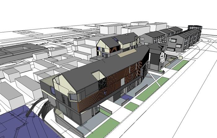 三个现代商业建筑概念性设计方案su模型[原创]