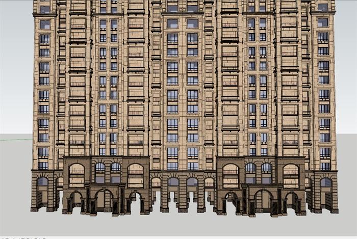 某欧式详细高层住宅楼设计su模型[原创]