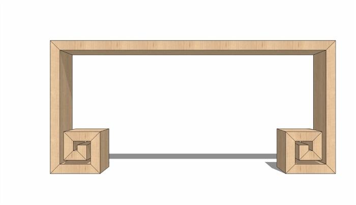 14个新中式案台家具组件su模型[原创]