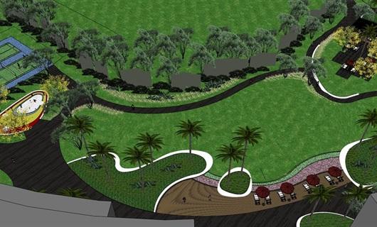 抚仙湖度假公寓中庭景观设计