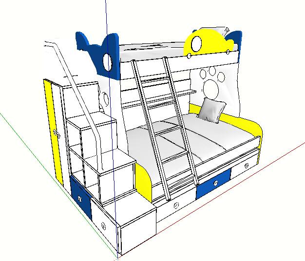 某室内手机儿童床su模型[画图]cad高低哪个原创好用图片