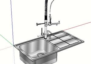 不锈钢水槽设计SU(草图大师)模型