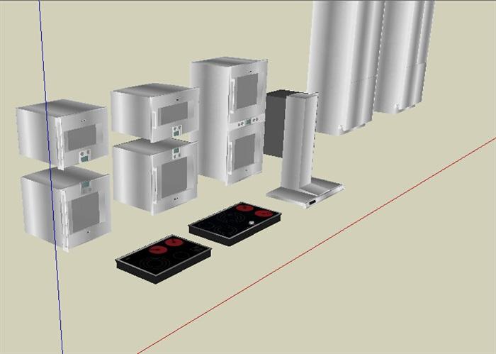 室内家电电器素材设计su模型[原创]