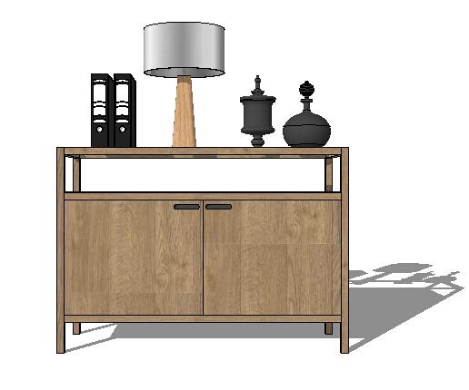 现代简约室内空间家具装饰素材设计su模型[原创]