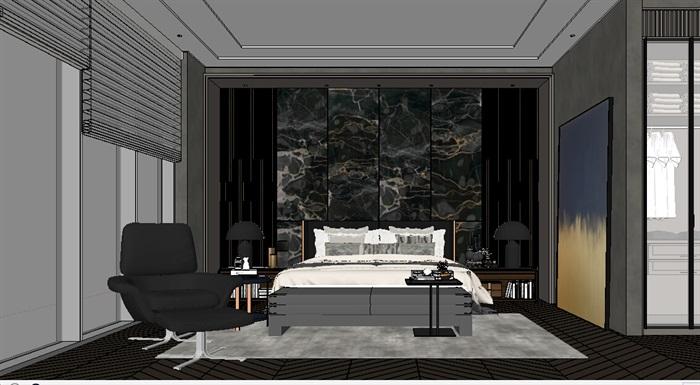 某室内卧室空间素材su模型[原创]