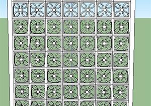 镂空隔断墙素材设计SU(草图大师)模型