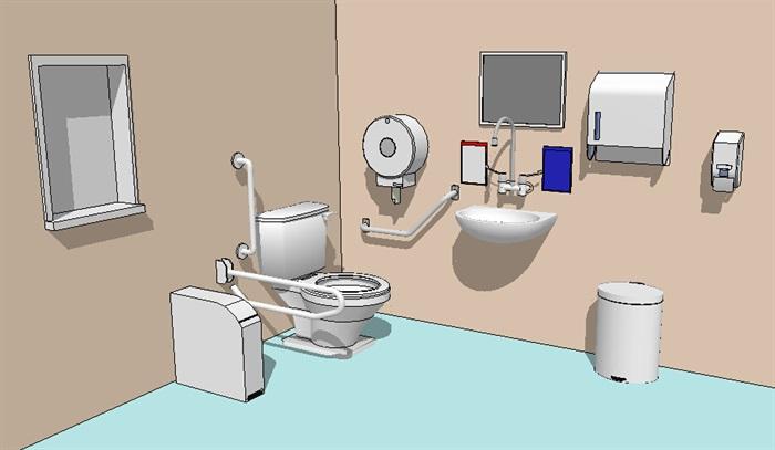 卫浴设施素材设计su模型[原创]