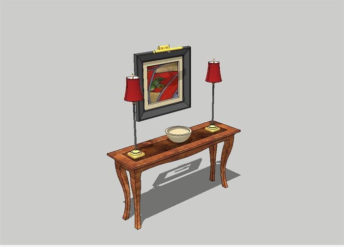 简欧室内详细的家具素材设计su模型[原创]