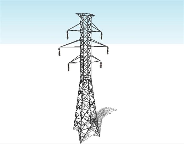 高压线铁塔素材设计su模型[原创]