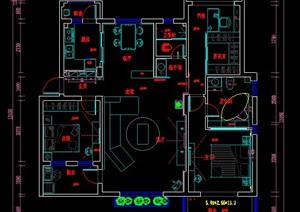 三居室住宅家装设计方案图