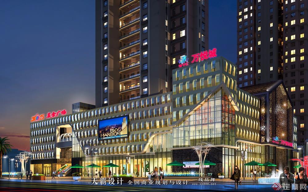 城市商业综合体设计效果图:辽源万悦城外观