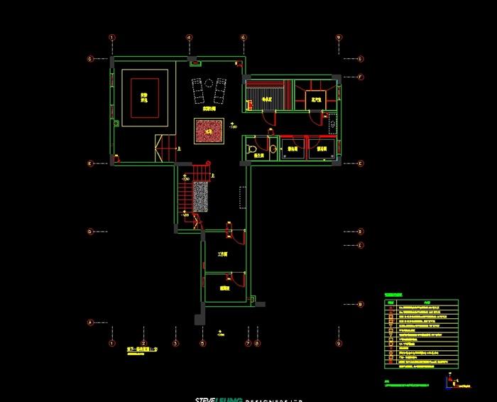 某小區住宅室內空間設計cad施工圖附手繪圖[原創]