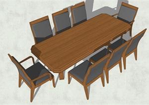 桌椅详细设计SU(草图大师)模型