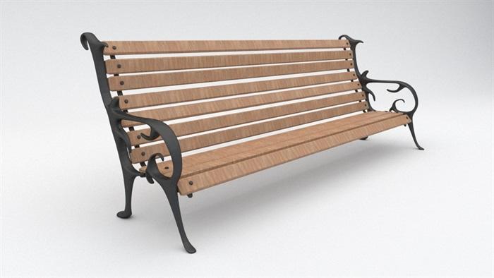 欧式户外长凳座椅su模型[原创]