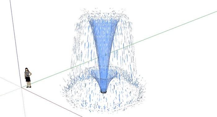 喷泉图片 手绘简笔