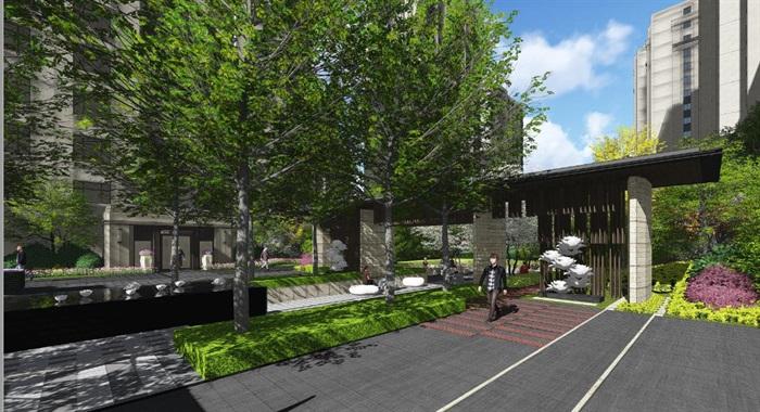 杭州某住宅小区景观深化设计方案高清文本