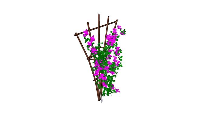 花架植物素材设计su模型