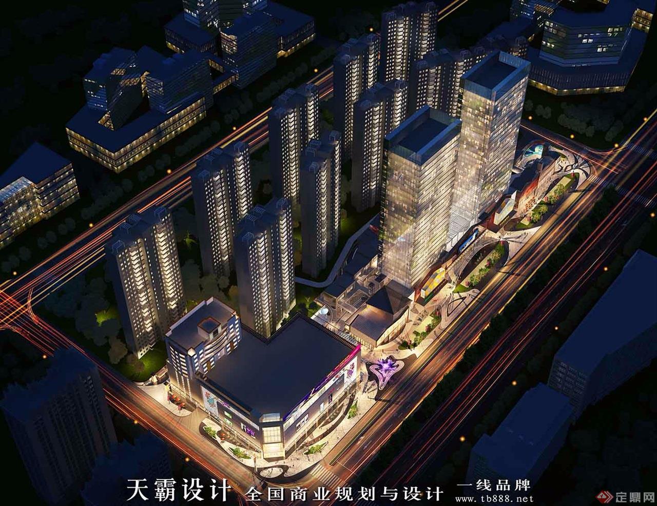 城市综合体设计效果图:河南洛阳老城根-鸟瞰