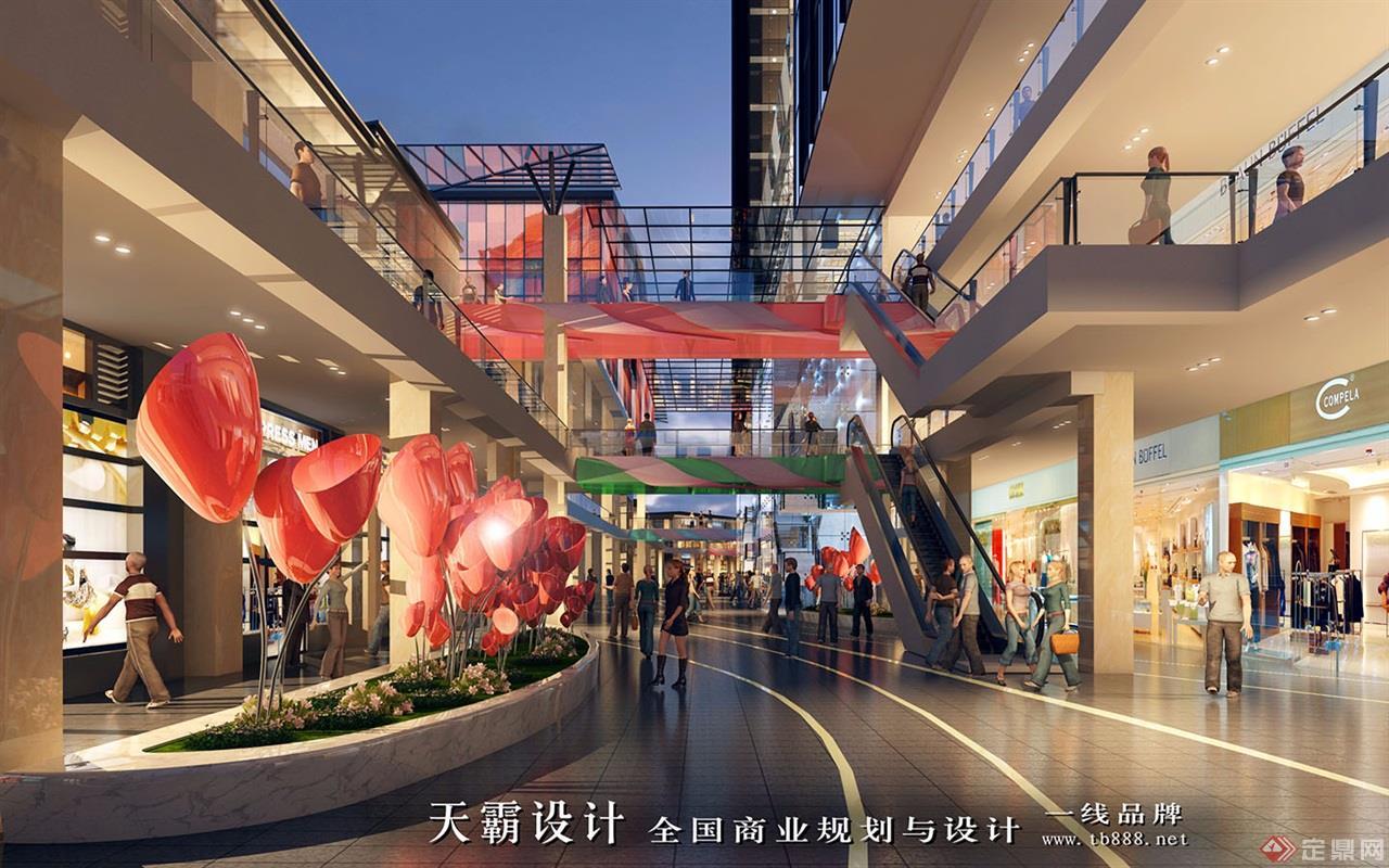 城市综合体设计效果图:河南洛阳老城根-步行街3