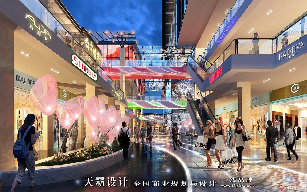 城市综合体设计效果图:河南洛阳老城根-步行街4